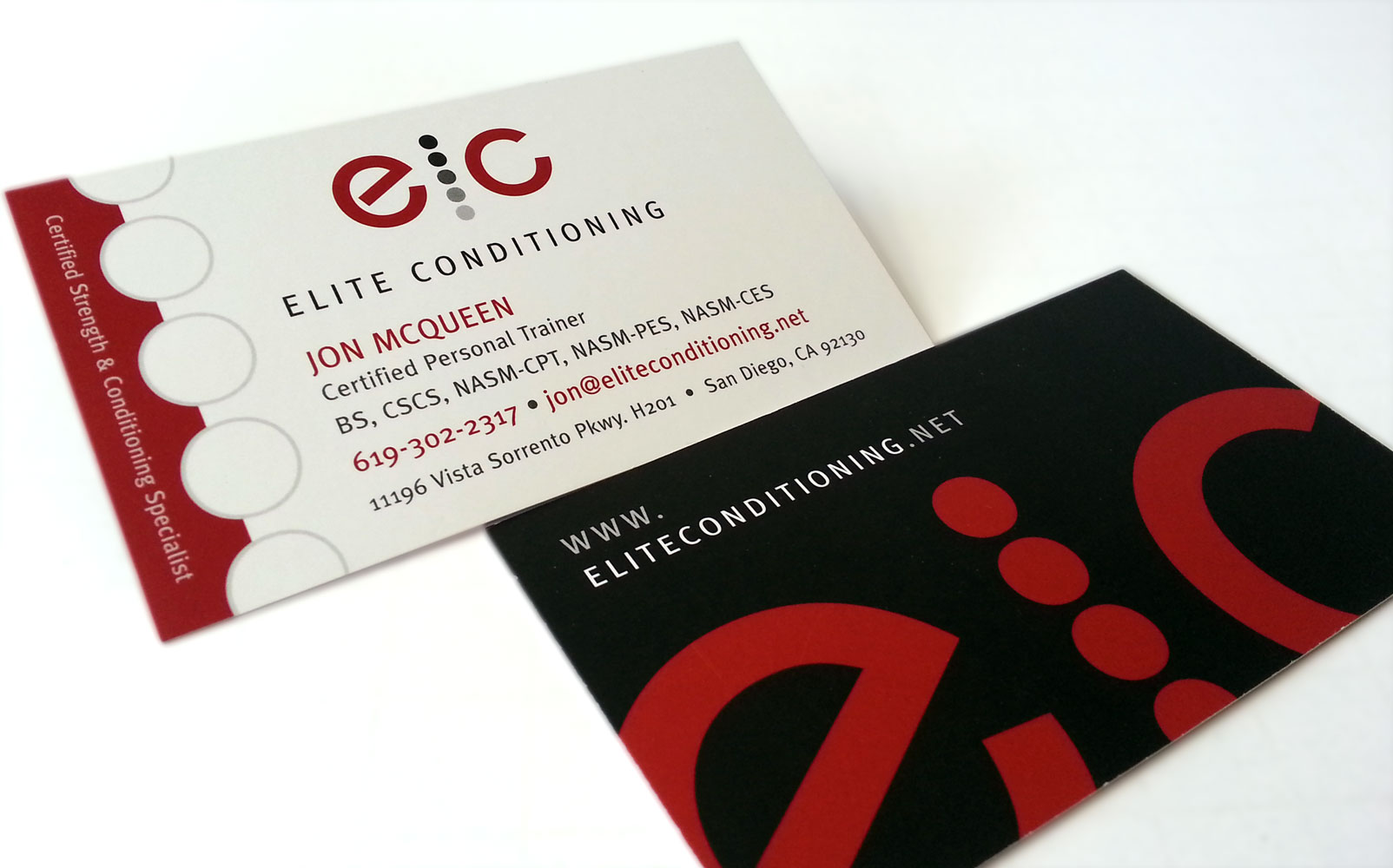 Elite conditioning business cards evolving door design elite conditioning business cards colourmoves