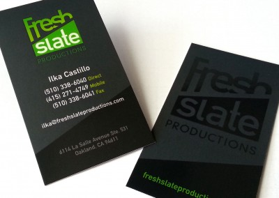 Fresh Slate Productions Business Cards