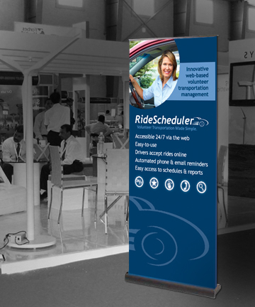 Ride Scheduler Pull-up Banner