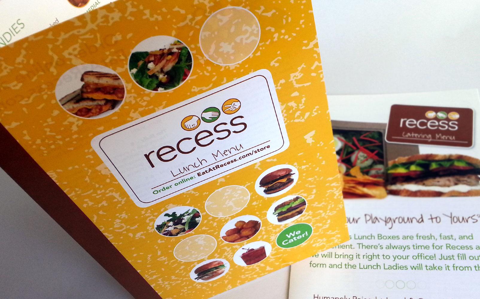 Recess Brochure and Menu Design & Recess Brochure and Menu Design | evolving door design pezcame.com